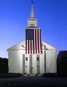 Church Memorial Day Flag